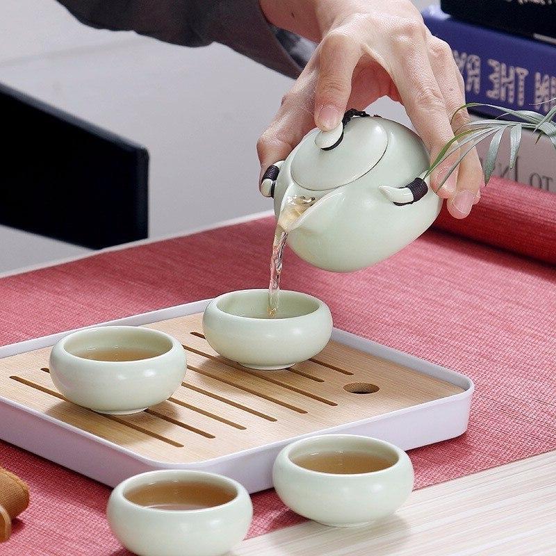 <font><b>Chinese</b></font> Kung Fu <font><b>Tea</b></font> Ceramic <font><b>Tea</b></font> Ceremony Pot Travel Bag