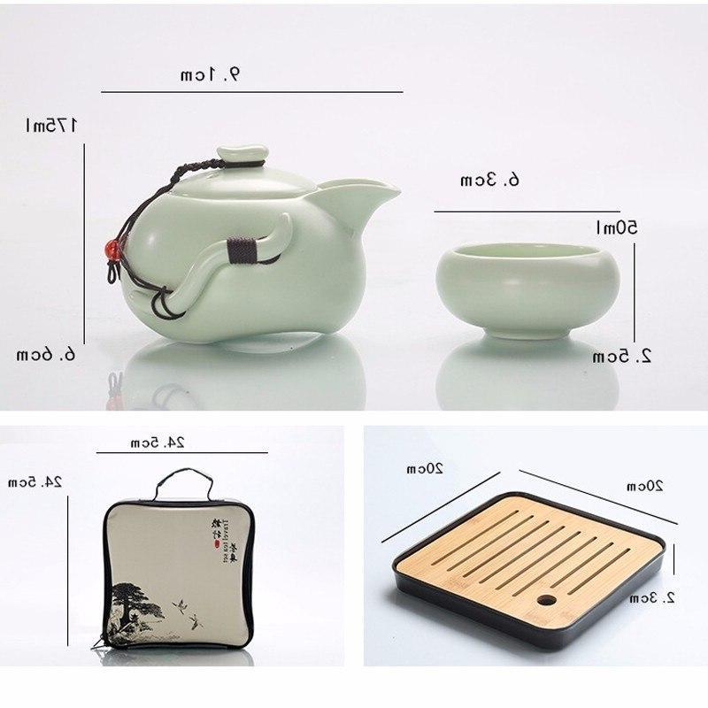 <font><b>Chinese</b></font> Kung <font><b>Tea</b></font> Teapot Porcelain <font><b>Tea</b></font> Cups of Ceremony Travel