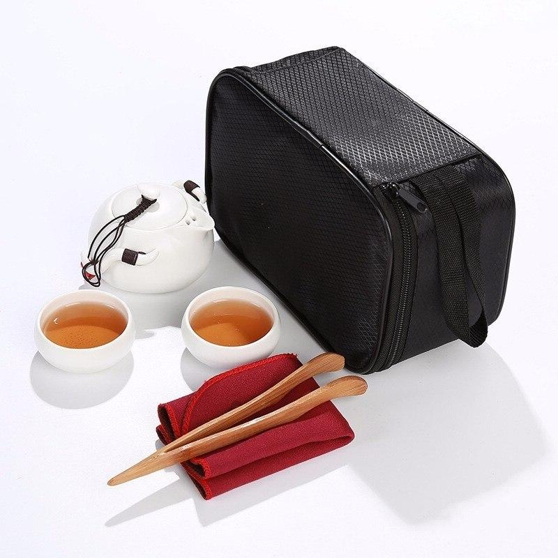 <font><b>Chinese</b></font> Kung <font><b>Tea</b></font> <font><b>Set</b></font> Teapot Porcelain Teaset Gaiwan <font><b>Tea</b></font> of <font><b>Tea</b></font> Ceremony <font><b>Tea</b></font> Pot Travel