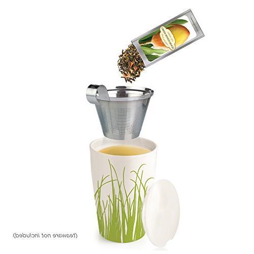 Tea Forté SINGLE Loose Sampler, Variety Set, 28 Different Single Serve Pouches Black Tea, Herbal Tea