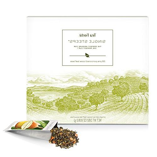 Tea Loose Assorted Variety TEA Gift Set, 28 Different Single Serve - Tea, Green Tea, Tea, Tea