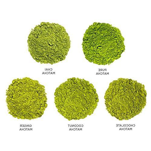 Tea STEEPS Organic Powder Tea Sampler, Serve Tea Matcha