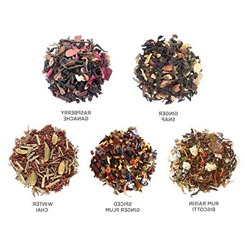 Tea Forté Single Steeps Tea Gift Assorted Variety Box, Pouches, Blends
