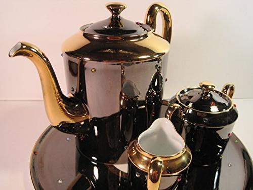 Tea , 4 Pieces, Hand-Painted Artist: