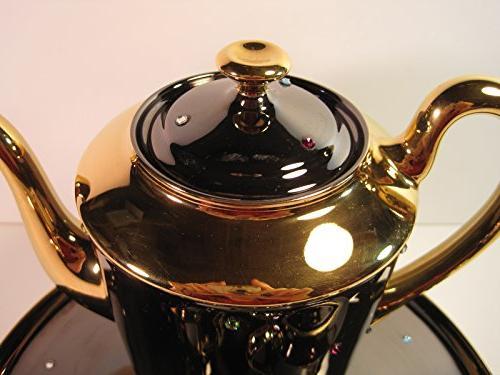 Tea Set, Pieces, Hand-Painted Artist: Villepigue