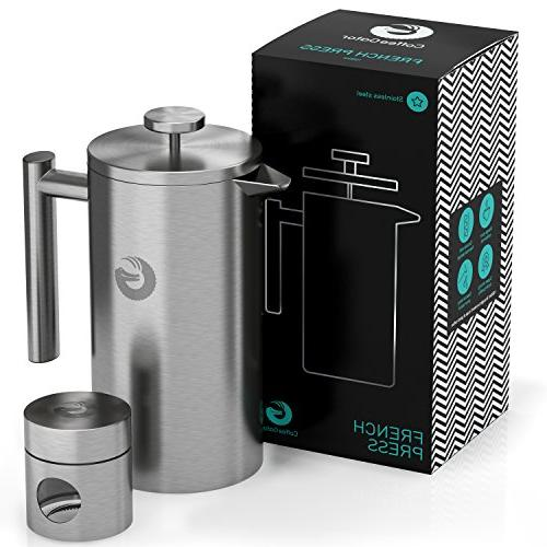 french press maker stainless steel