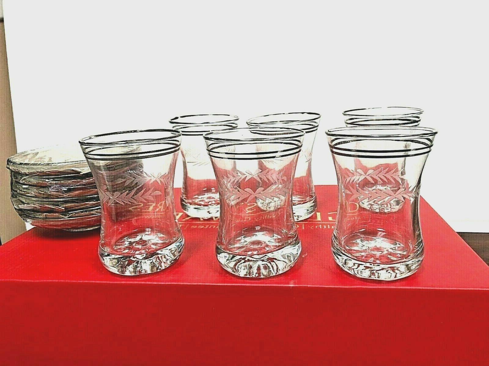 turkish tea glass set of 12 pcs