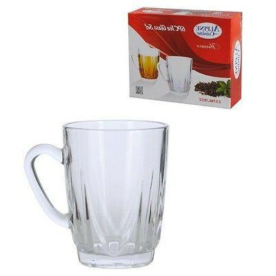 Alpine Cuisine Set 6 Glass Tea 8 ounces Persian