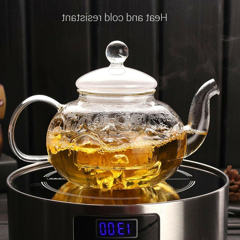 CoreLife Tea 4 Borosilicate and Saucers Infuser Pot