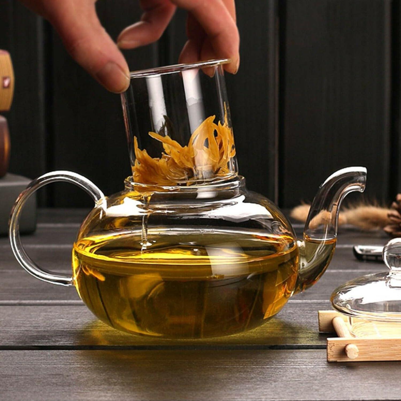 CoreLife Glass Tea Set 4 and Pot