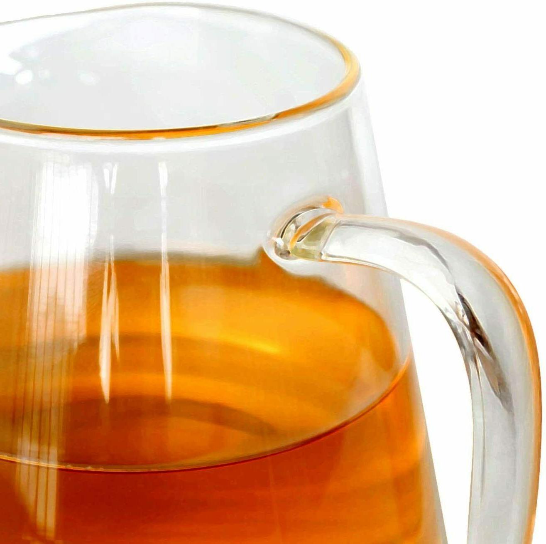 Glass Teapot steel Infuser Borosilicate Kettle Set