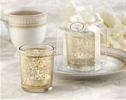 Golden Renaissance Glass Tealight Holder Set of 4