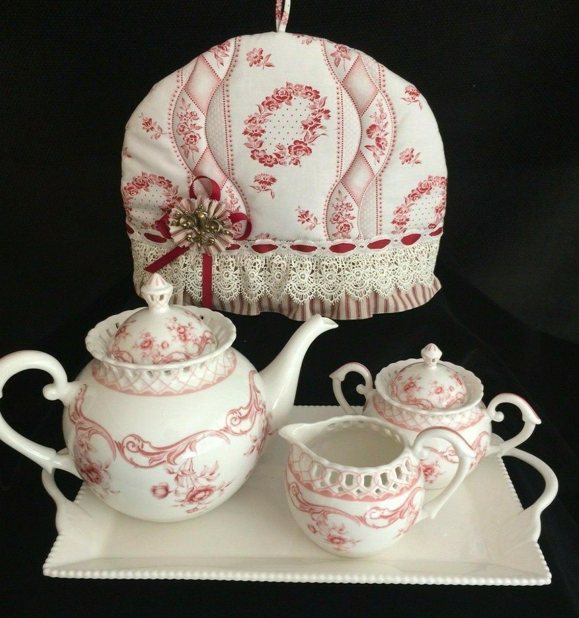 """GRACE'S TEA W/ RIDGWAY """"OLD BOUQUET"""" PLATES"""