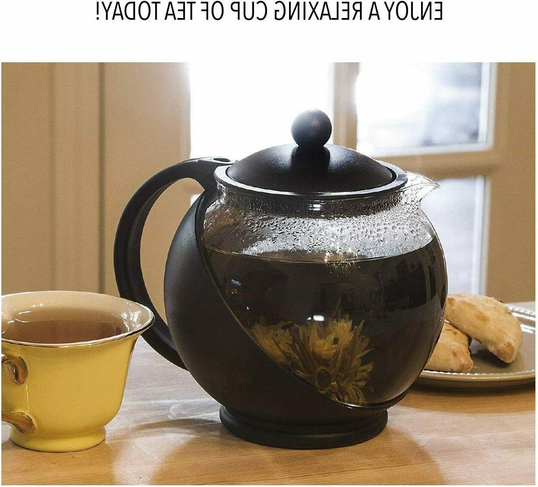 Half Moon Teapot Removable Infuser, Borosilicate Glass Tea Maker