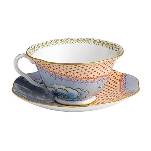harlequin butterfly bloom teacup saucer