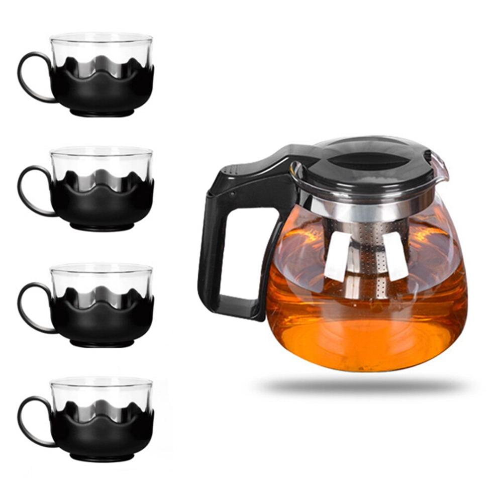 Heat-resistant Glass Teapot <font><b>Set</b></font> <font><b