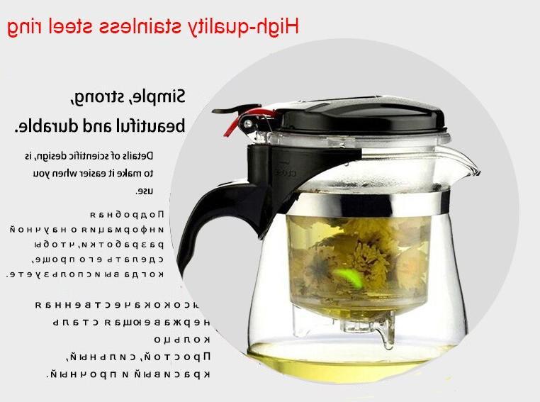 High Glass Teapot fu <font><b>Tea</b></font> Set Kettle Coffee Convenient Office