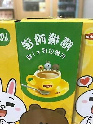 Hong Kong LINE Lipton Milk Tea Figure