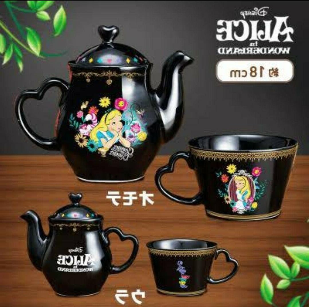 Japan Alice Wonderland Set Tea Pot SEGA