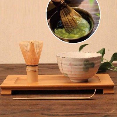 Japanese Ceremony Green Tea Whisk Holder Scoop Set
