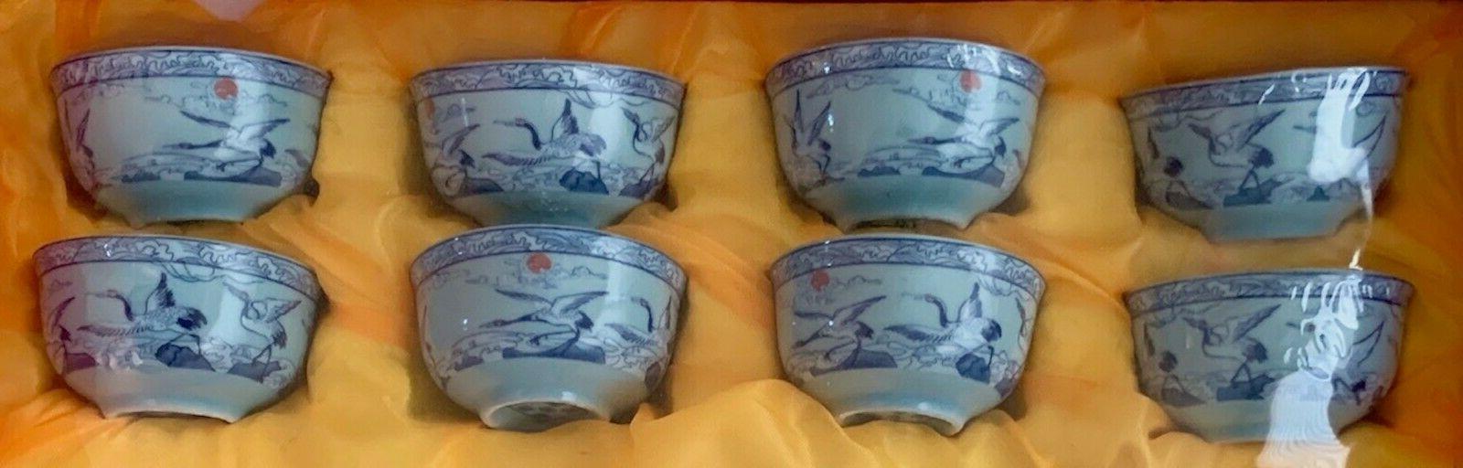 Japanese Porcelain 10 White Crane New, Beautiful