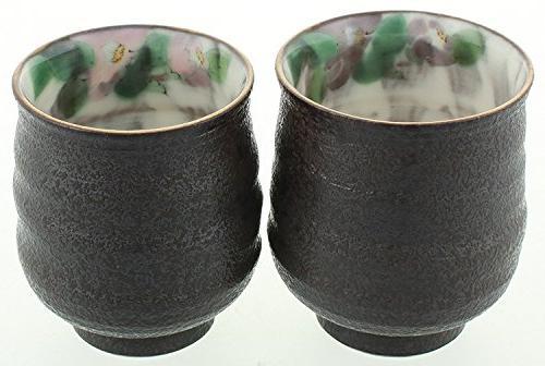 Kutani Japanese Yunomi & Camellia Designed cups w/ size K4-726