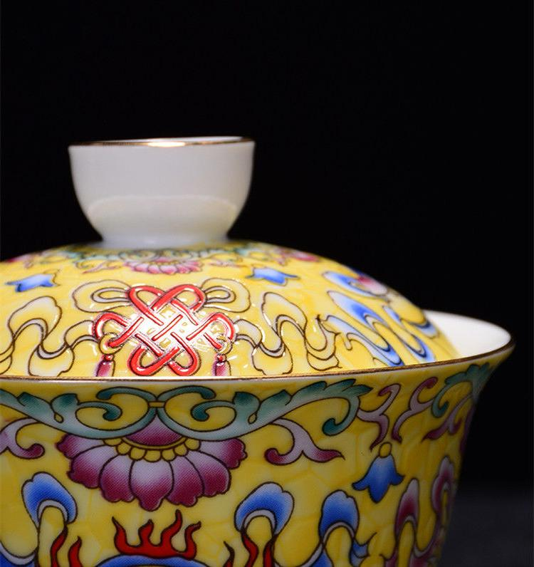 Jingdezhen handpainted tureen covered bowl cup
