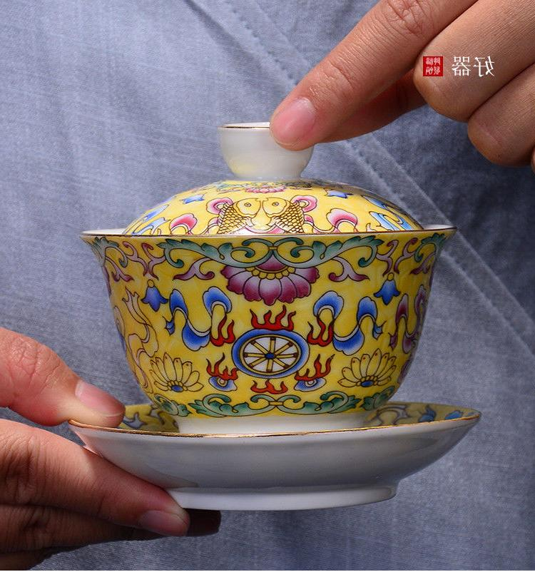 Jingdezhen handpainted tureen covered bowl cup saucer lid