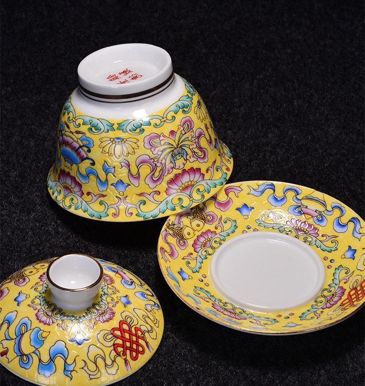 Jingdezhen craft porcelain handpainted bowl cup