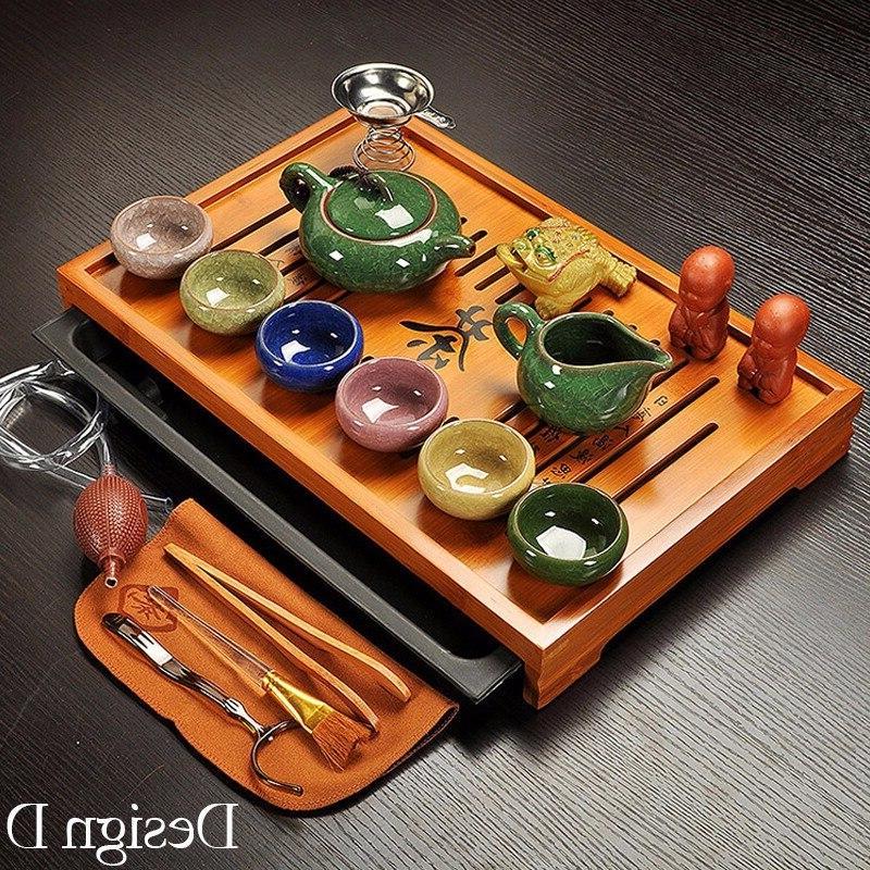 Jingdezhen Fu <font><b>Tea</b></font> <font><b>Set</b></font> <font><b>Tea</b></font> Cup,Tureen Infuser,<font><b>Chinese</b></font> Ceremony with <font><b>Tea</b></font> Table