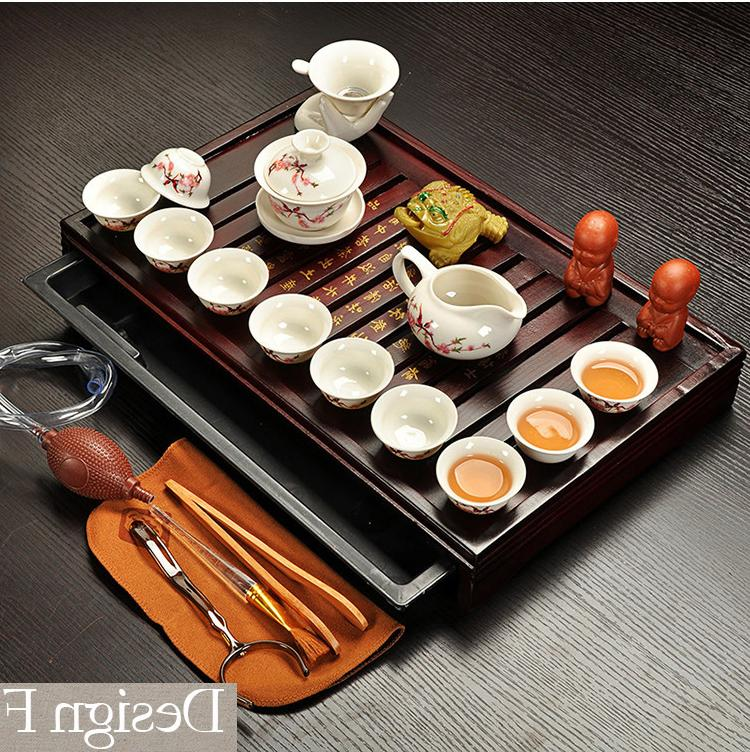 Jingdezhen Purple Fu <font><b>Tea</b></font> Cup,Tureen Ceremony with Gaiwan,Chahai Table