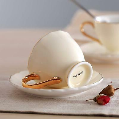 Jusalpha Fine Cup and Saucer Cup and Spoon Set