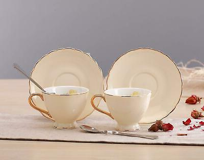 Jusalpha China Cup with and Spoon Set
