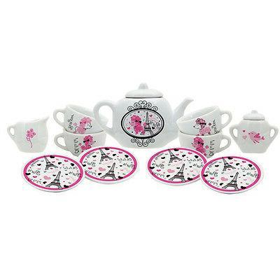 LA TEA DA Porcelain Tea Set 13 Pieces French Theme New in Bo