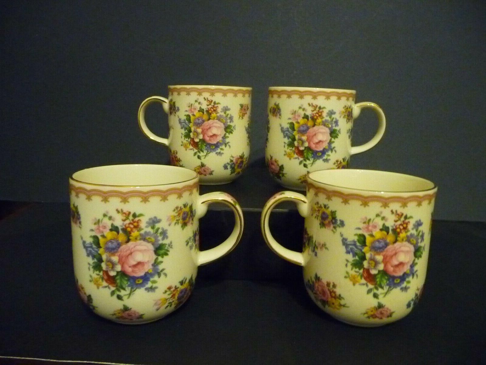 lady carlyle set of 4 bone china