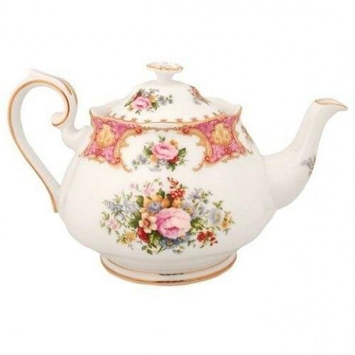Royal Albert Lady Carlyle Teapot Tea Pot  Bone China New wit