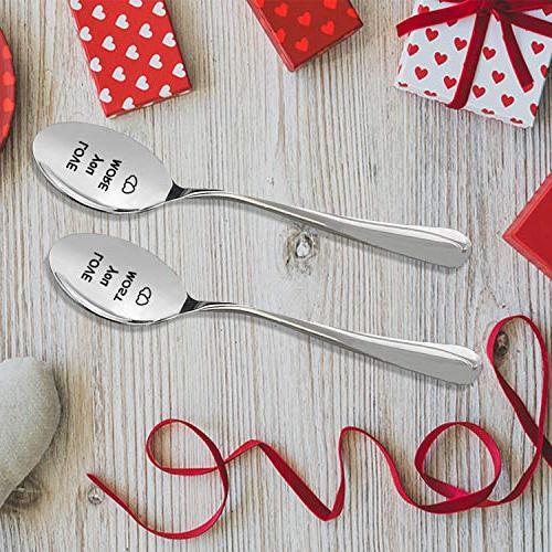 LOVE YOU MORE Steel Spoons - Wedding Anniversary -