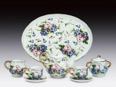 MINIATURE GLORIES TEA SET TEAPOT BOWL