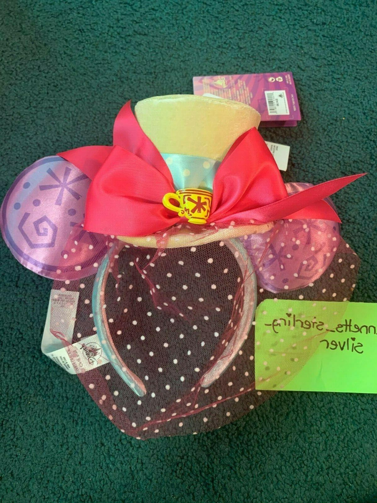 Disney Minnie Attraction Ears Magic Band Set Mad Tea Limited
