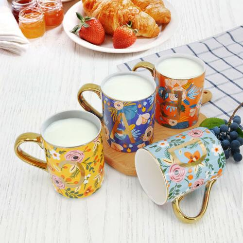 Mugs Set of 12oz Floral Mugs Coffee Cups Cocoa Home