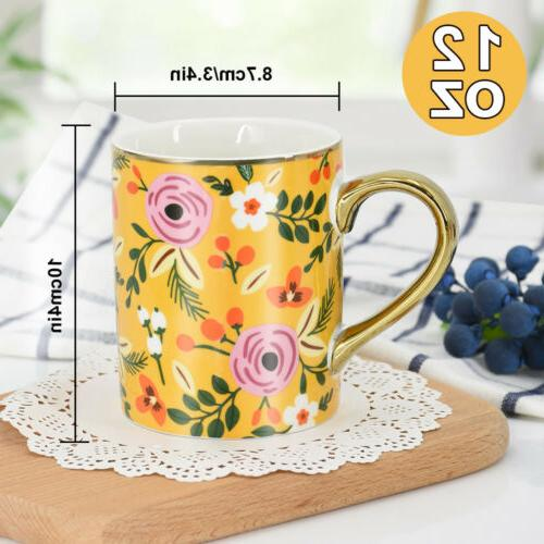 Mugs Set 12oz Mugs Cups for Tea Cocoa