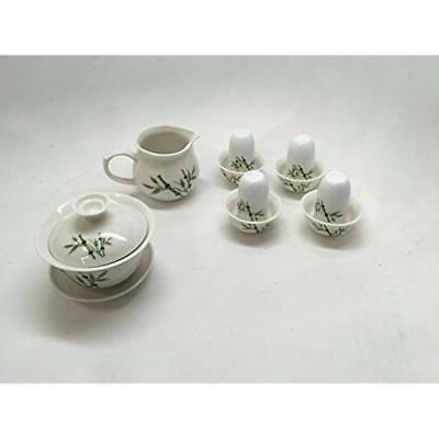 """Music Teapots Gaiwan Set, Pure White With Box."