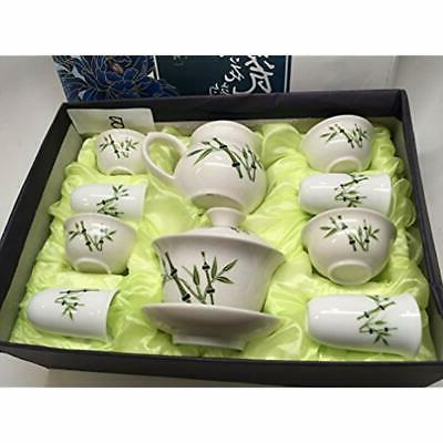 """""""Music Teapots Gaiwan White With Bamboo Gift Box."""