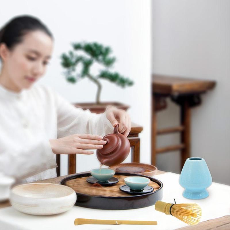 Natural Tea Powder Whisk Scoop Bowl New