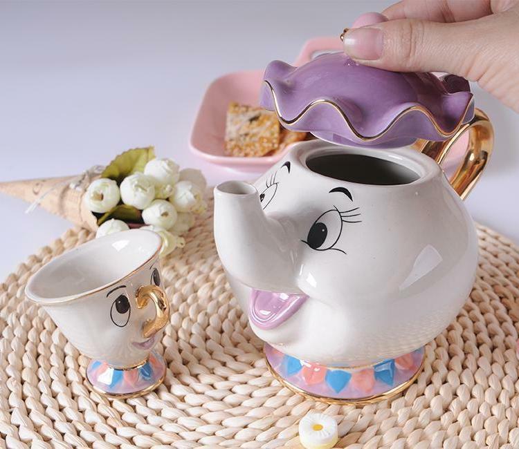 New Beauty Beast Teapot Cartoon Mrs Potts Tea Pot Cup