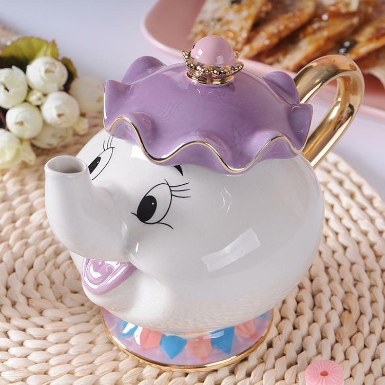 New Beauty The Beast Teapot Mug Mrs Potts Pot Cup Set Gift