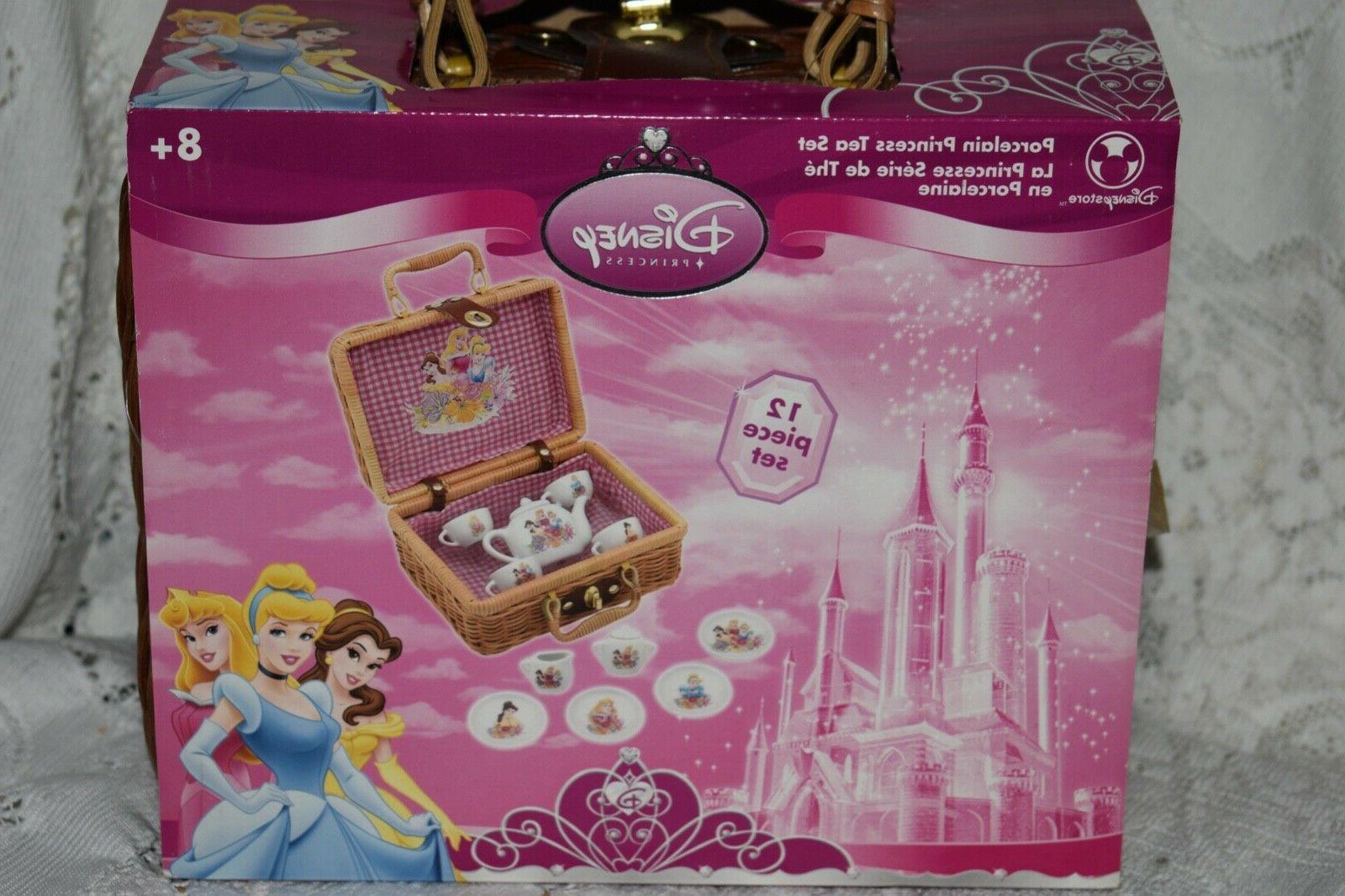 NEW in Basket Vintage Disney Princess 12 pc Fine Set