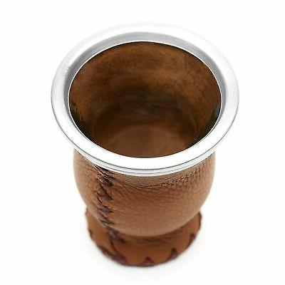 Balibetov Leather & Glass Yerba Mate with