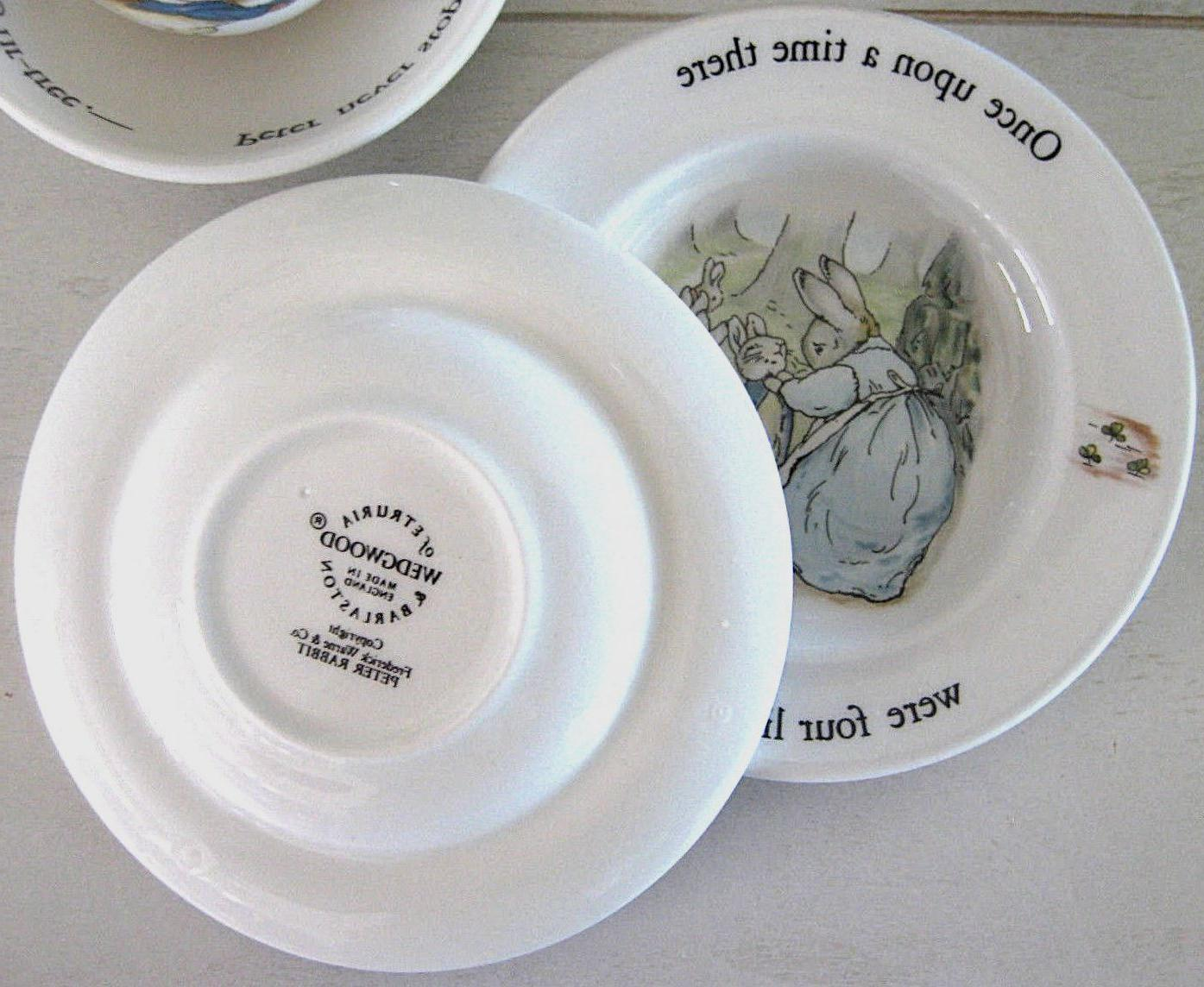 New Vintage WEDGWOOD Potter Peter Children's Tea Set Mint