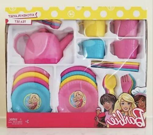 Nib Barbie Kitchen Playset Tea Set Toy Dishes Rare Vhtf
